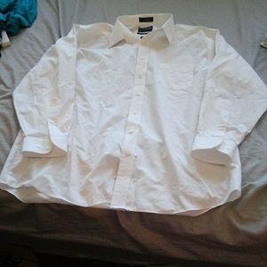 Stafford white dress shirt size 34/35